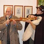 Vito Giovannelli con il polistrumentista Antonello Di Matteo al Circolo Aternino